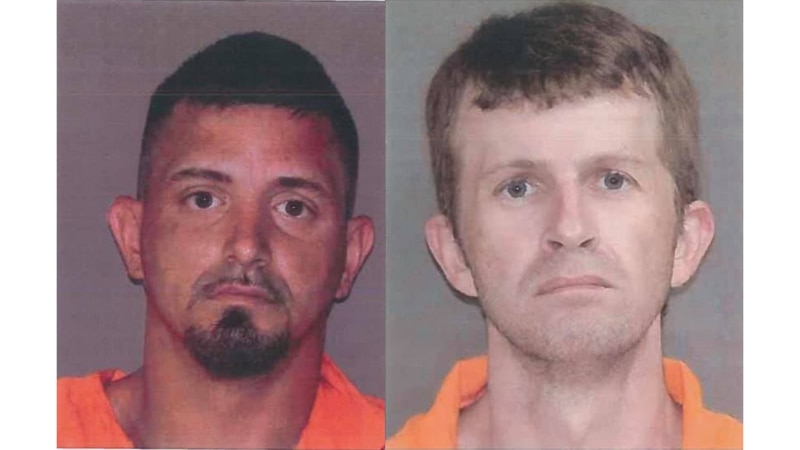 Kevin Anthony Kahler, 36, and Kevin Webb, 33, escaped from Leon County on Friday. Anyone with...