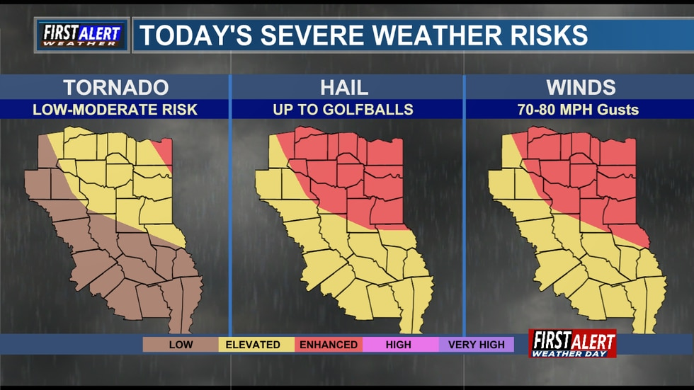 Another strong storm system is moving into East Texas today.