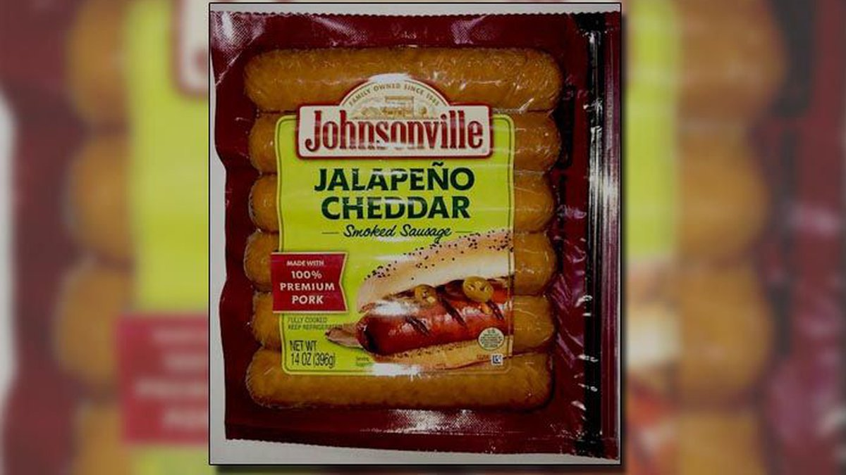 Johnsonville is recalling their Jalapeno Cheddar Smoke Sausage because of plastic embedded in...