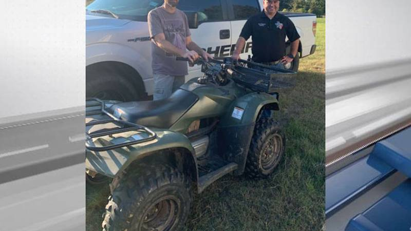 Pictured is the four-wheeler that was recovered after a burglary investigation by the Shelby...