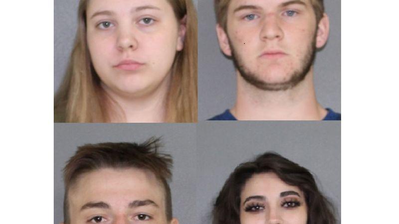 From top left, clockwise: Destiny Glaze, Trace Selman, Savannah Jennings, Josh Layton