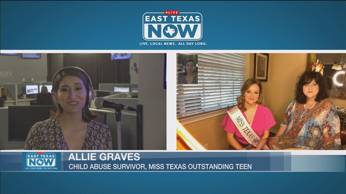 """Miss. Texas Outstanding Teen 2019, Allie Graves speaks to us on East Texas Now about """"walking a..."""
