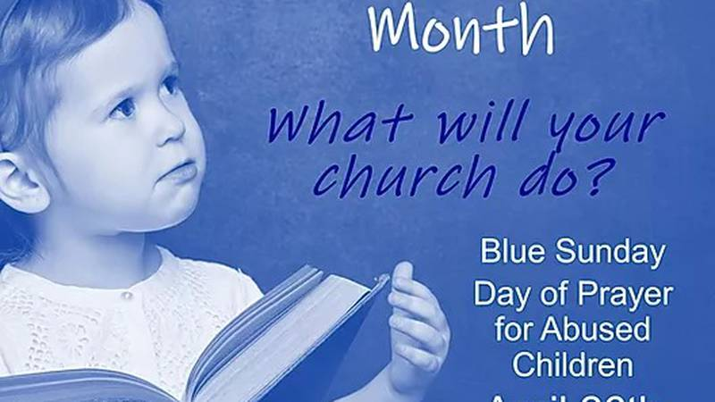 DFPS joins Blue Sunday to pray over children in abusive situations