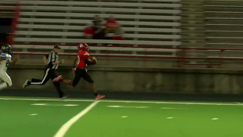 WATCH: Shelbyville QB Jakory Standley makes 91-yard run for touchdown against Detroit