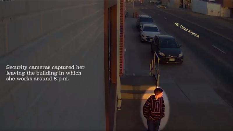 Surveillance video of Brianna Gilbert outside of Plains Dairy (Source: Randall County Sheriff's...
