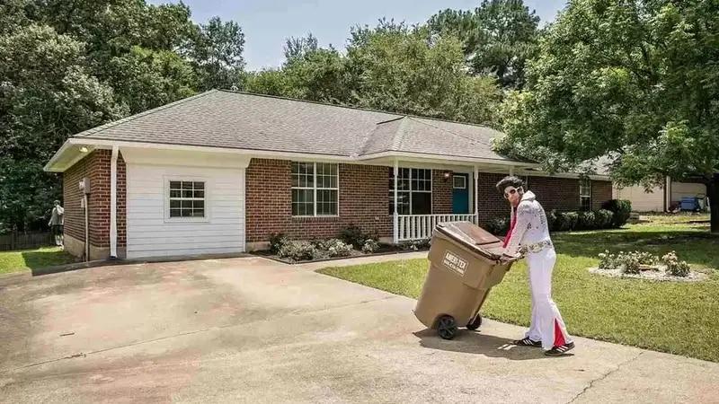 Realtor Jason Jones poses as Elvis to sell this listing.