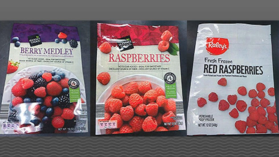 Wawaona Frozen Foods issued the recall for packages of frozen raspberries and frozen berry...