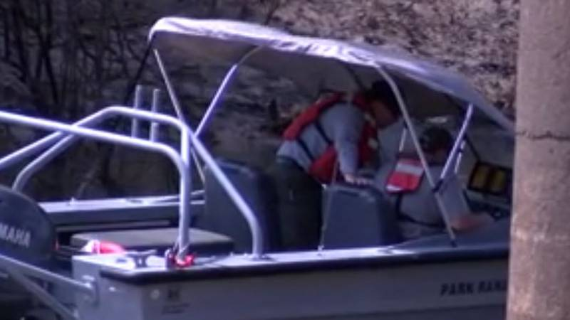 Texas Parks and Wildlife game wardens moved their search for a missing man's body farther...
