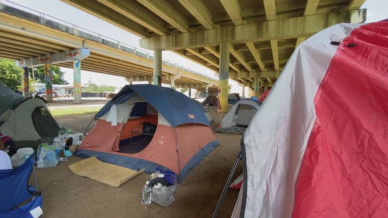 Homeless encampments north of downtown Tyler