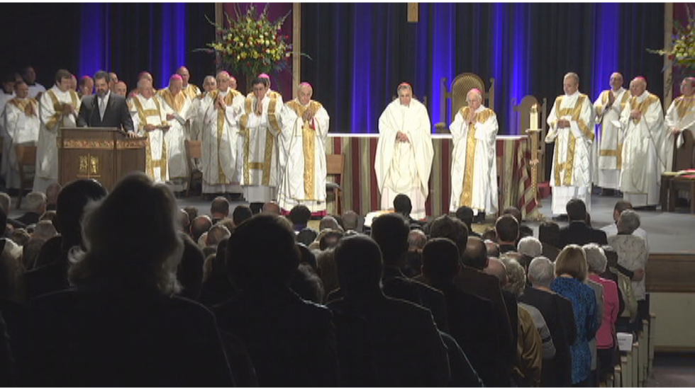 Scirto's gift of vocal talent has been incorporated into the installation of bishops, Sunday...