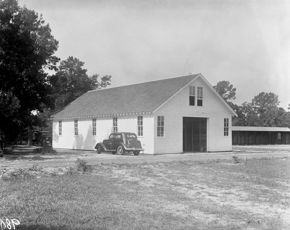 The Forest Fire Protection New Warehouse in Lufkin constructed with U.S. Civilian Conservation...