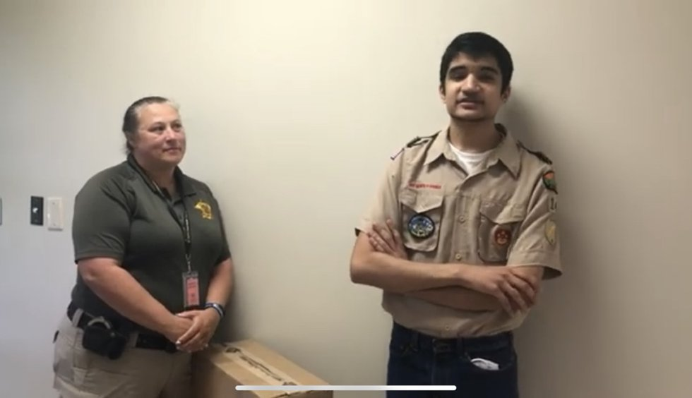 WebXtra Lufkin Boy Scout raising funds for drug incinerator at Angelina Co. Sheriff