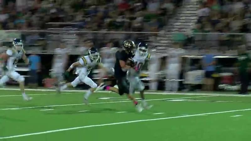 WATCH: Ore City's Brett Byrd takes the ball up the middle for 63-yard TD run