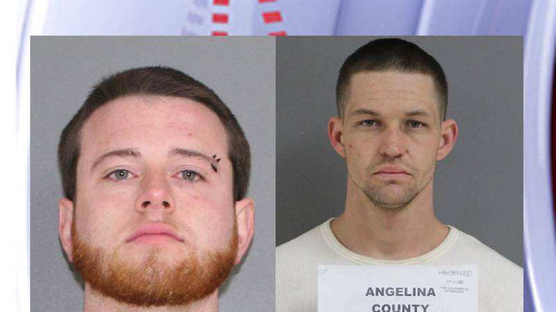 Pictured are Ty Glover (left) and Danny Hughes. (Source: Angelina County Jail)