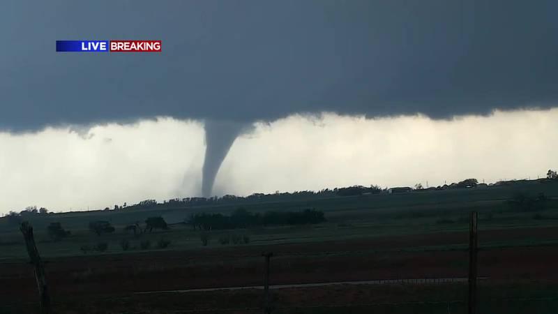 First tornado touches down in Lockett, TX