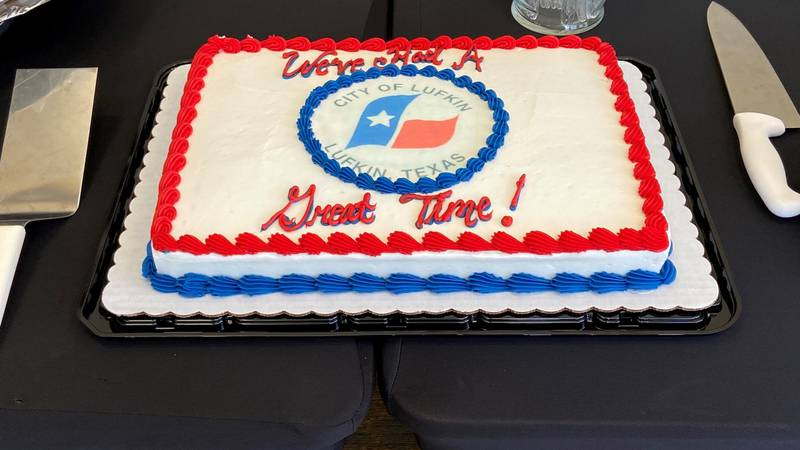 A reception for former Lufkin mayor Bob Brown took place at the Pitser Garrison Convention...