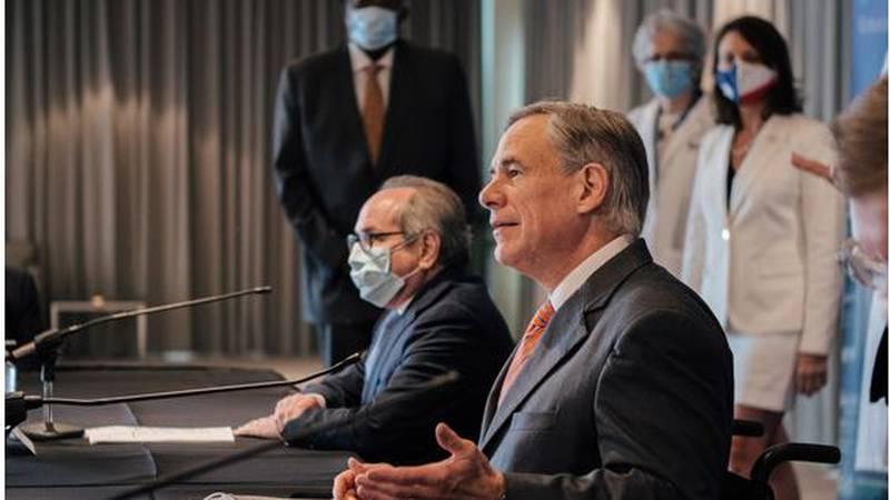 Gov. Greg Abbott hosted a roundtable on the upcoming flu season at UT Southwestern Medical...