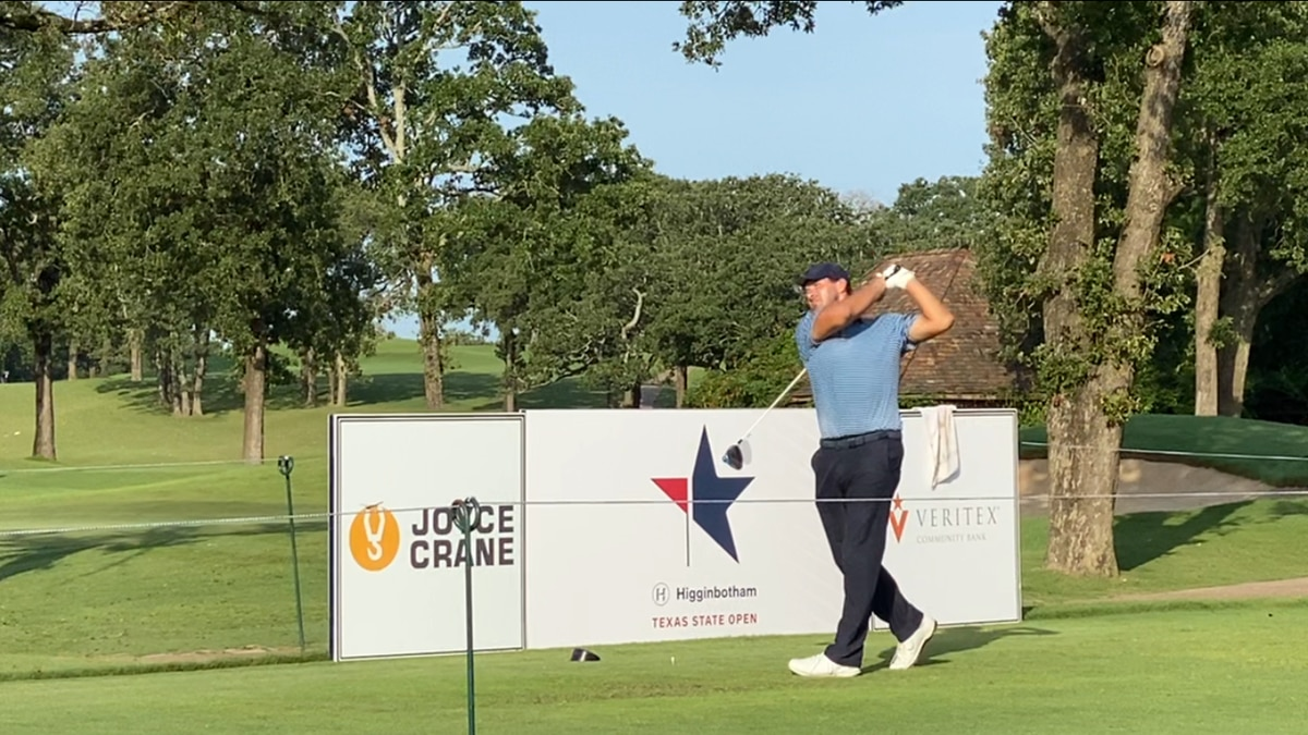 Tony Romo tees off in Texas State Open golf