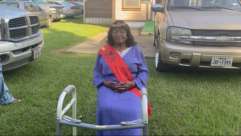 Mary Thomas, who lives in the Milam community in Sabine County, recently turned 104. (Source:...