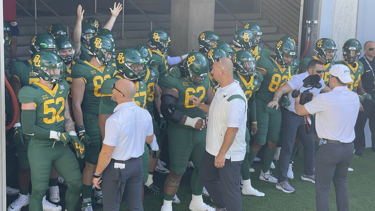 Baylor players in the tunnel before the West Virginia game.