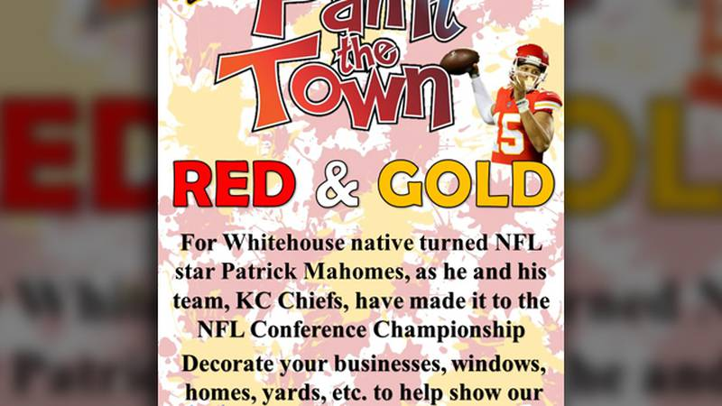 Residents and businesses are encouraged to decorate in Chiefs' colors to honor alum Patrick...
