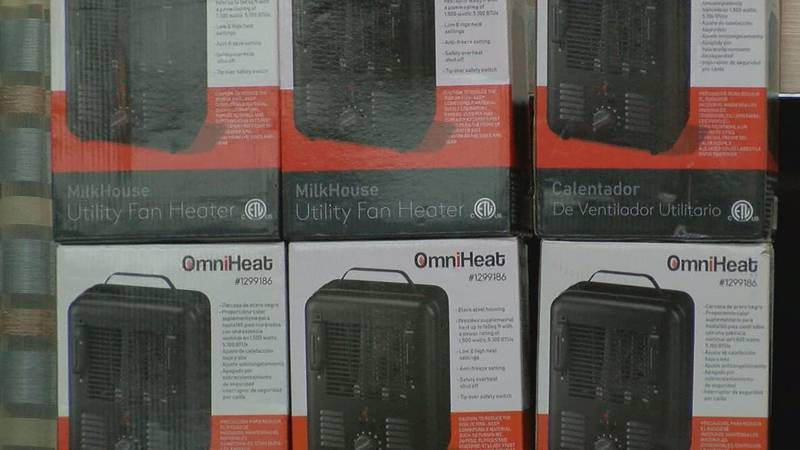Community members receive free heaters from Impact Lufkin