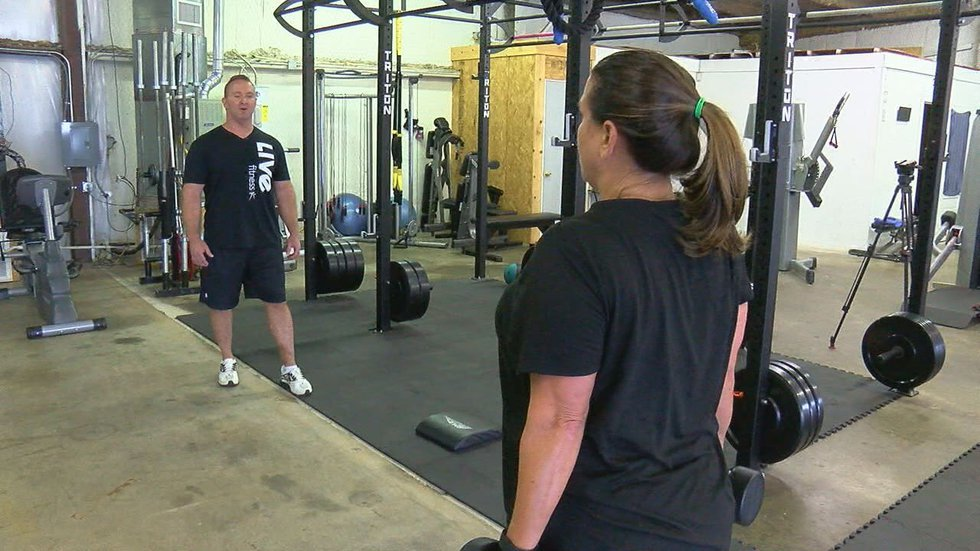 Live Fitness owner Paul Hildreth helps each participant develop goals for their workout....