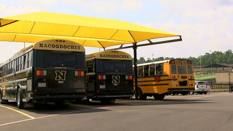 Nacogdoches ISD opened a new transportation center today.