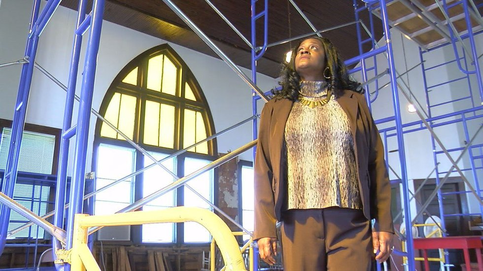 Tabitha Enge, who grew up at Mt. Vernon AME, is leading the restoration project to reopen the...