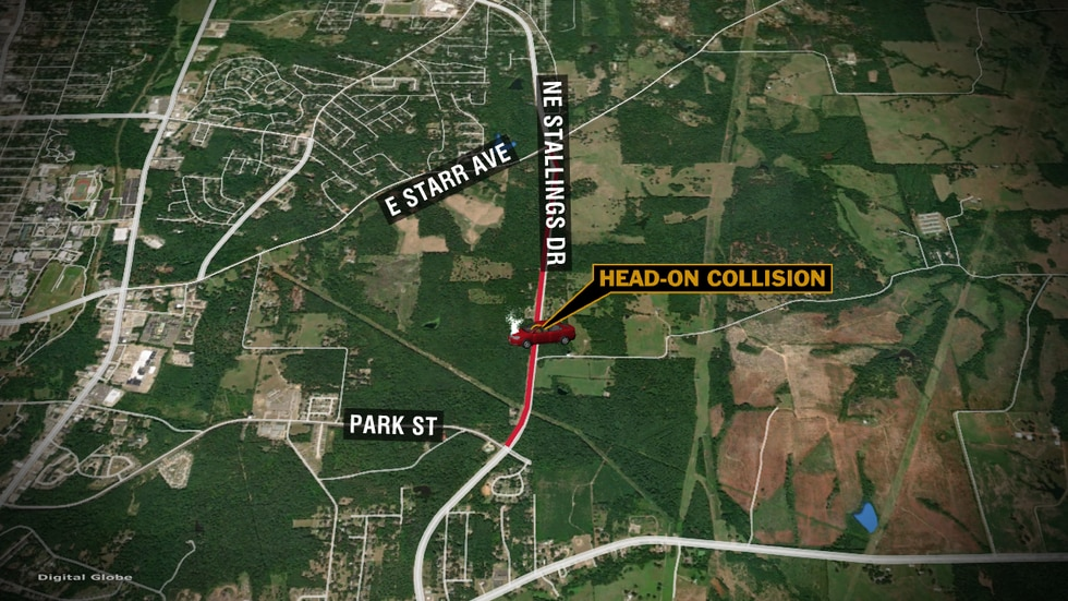 1 person killed in Nacogdoches 2-vehicle wreck Wednesday night.