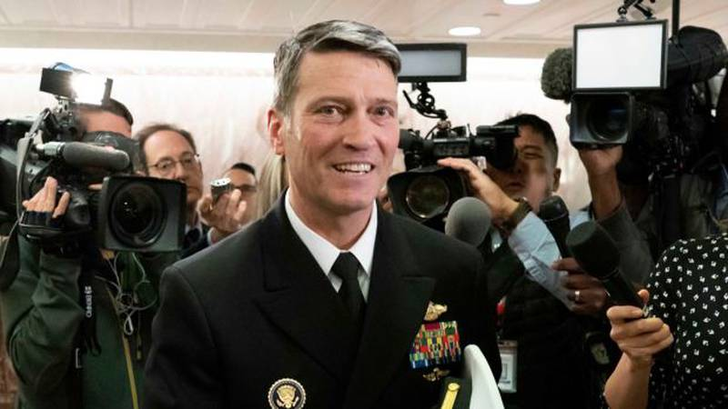 Rear Adm. Ronny Jackson, President Donald Trump's choice to be secretary of the Department of...