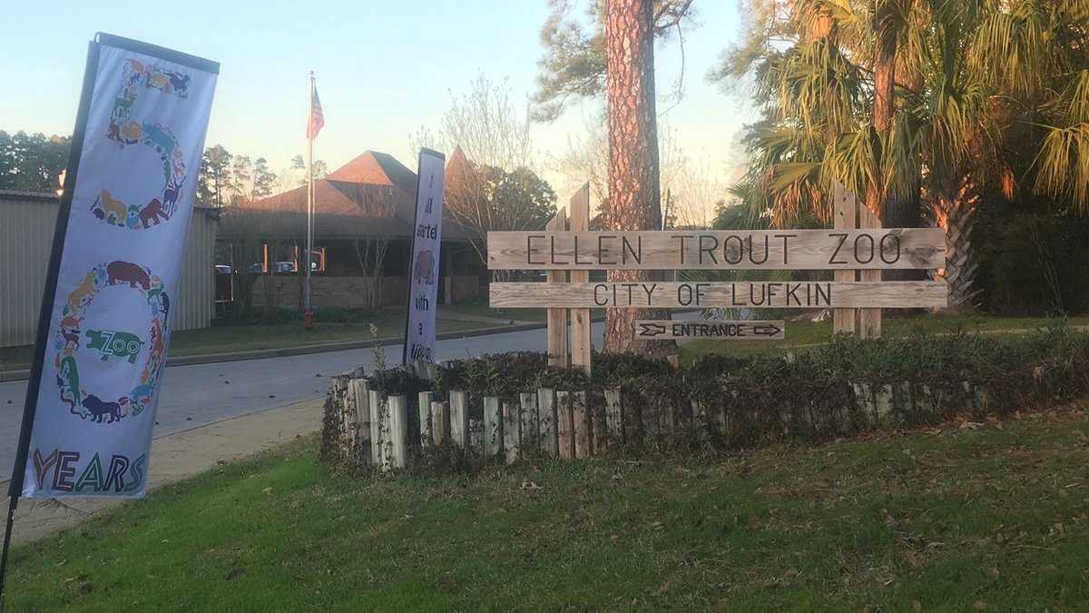 Pictured is the entrance to the Ellen Trout Zoo in Lufkin. (Source: Ellen Trout Zoo Facebook...