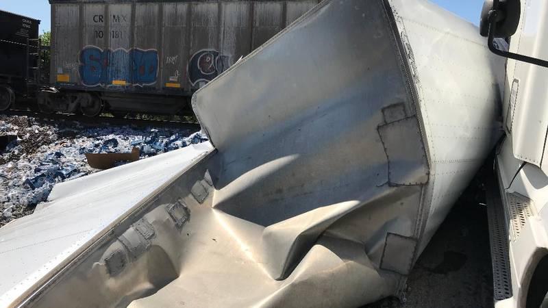 18-wheeler vs. train crash in Richmond