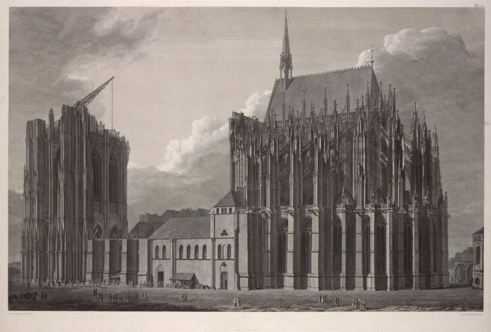 After a 300 year lull, construction of the Cologne Cathedral resumed in 1821. (Source: New York...