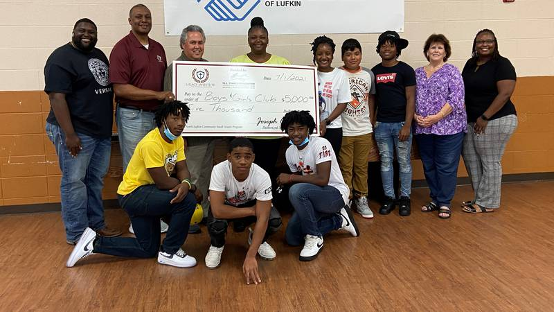 Lufkin-based nonprofit Embrace It received a $5,000 donation Thursday from the Legacy Institute...