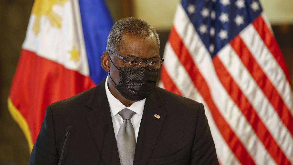 United States Defense Secretary Lloyd Austin holds a press conference with Philippines Defense...