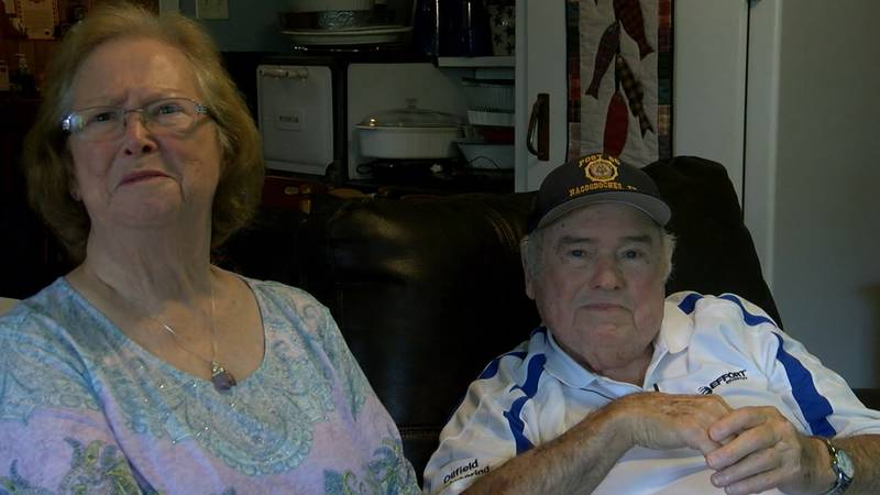 Marilyn (left) and Coy Simms