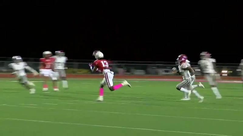 WATCH: Carthage's Montrel Hatten Jr. makes the catch and TD run against Jasper