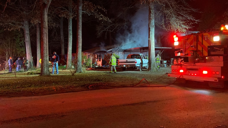 A home burned on Monday night on Rollingwood Drive.