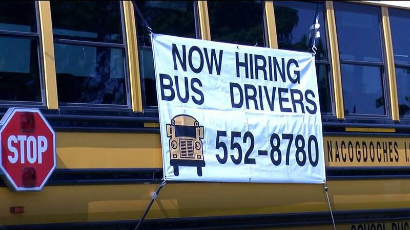 Nacogdoches ISD is dealing with a bus driver shortage . (Source: KTRE Staff)