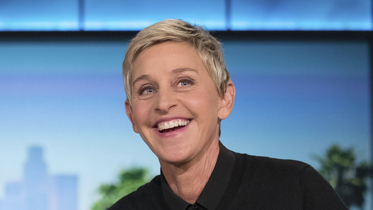 FILE - In this Oct. 13, 2016, file photo, Ellen Degeneres appears during a commercial break at...