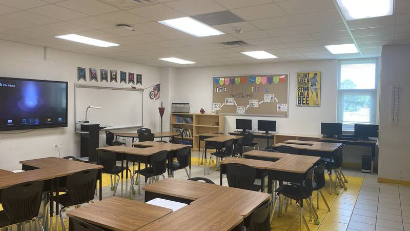 NISD classroom where students will learn this year