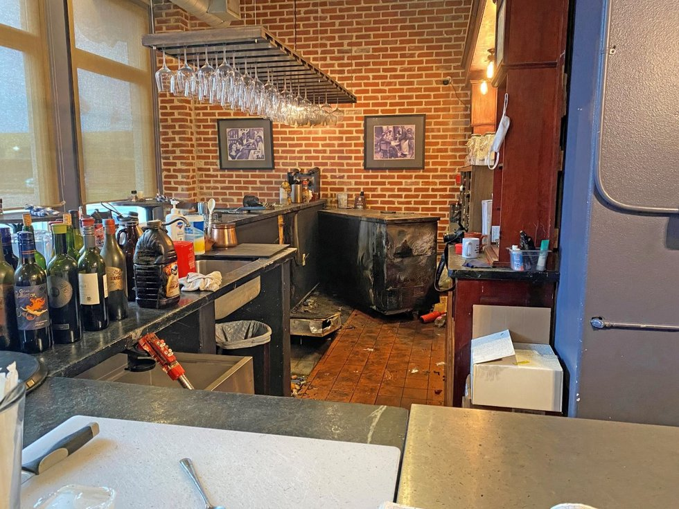 An electrical issue is cited as the cause of a small fire at Lufkin's Restoration Bistro...