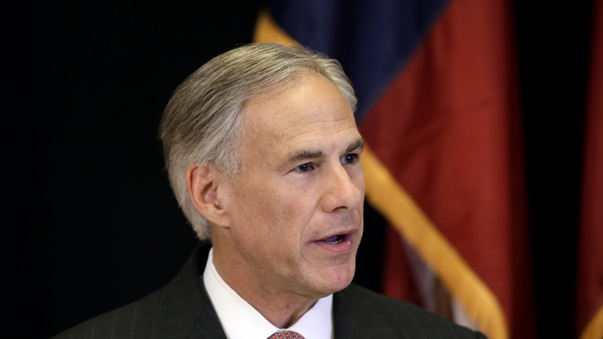 Texas Attorney General Greg Abbott makes a statement during a news conference, Monday, Nov. 4,...