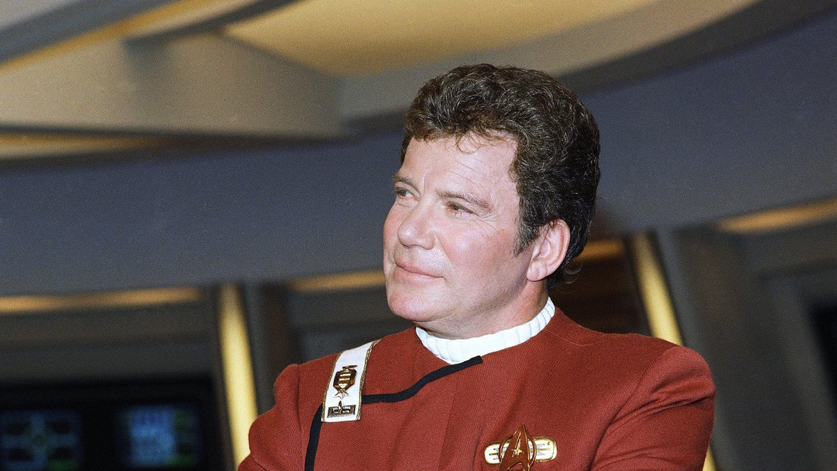 FILE - In this 1988 file photo, William Shatner, who portrays Capt. James T. Kirk, attends a...