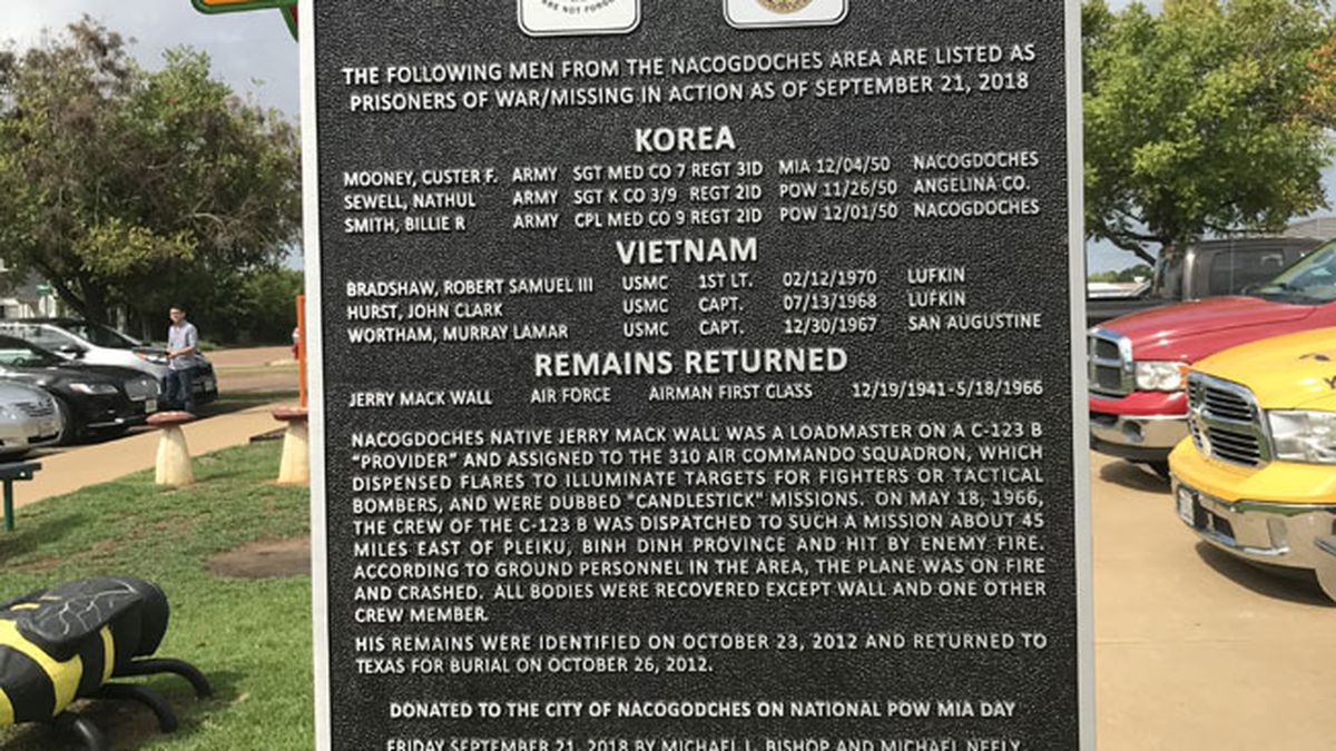 The Vietnam Veterans of America at Large donated a Korean War marker on National POW/MIA Day....