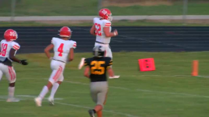 WATCH: Elysian Field's Gage Parker makes 35-yard interception return for touchdown against Winona