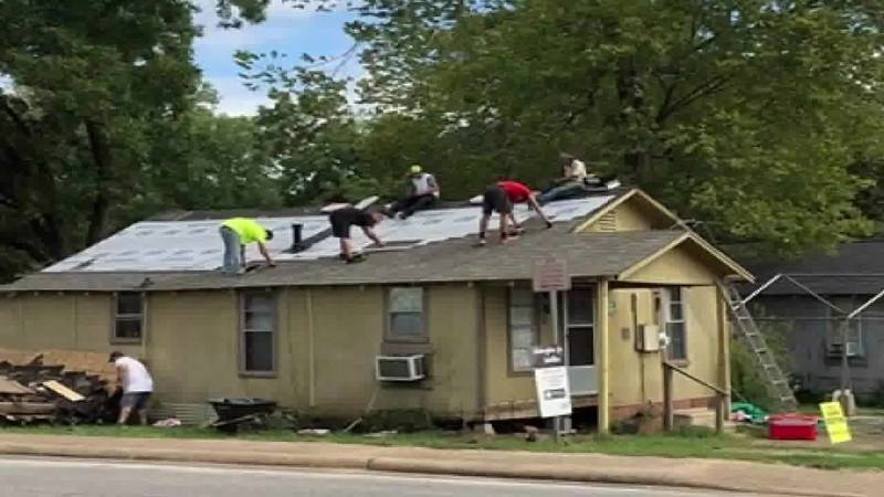 All Seasons Roofing company completed a new roof on the home of Lufkin resident and Navy...