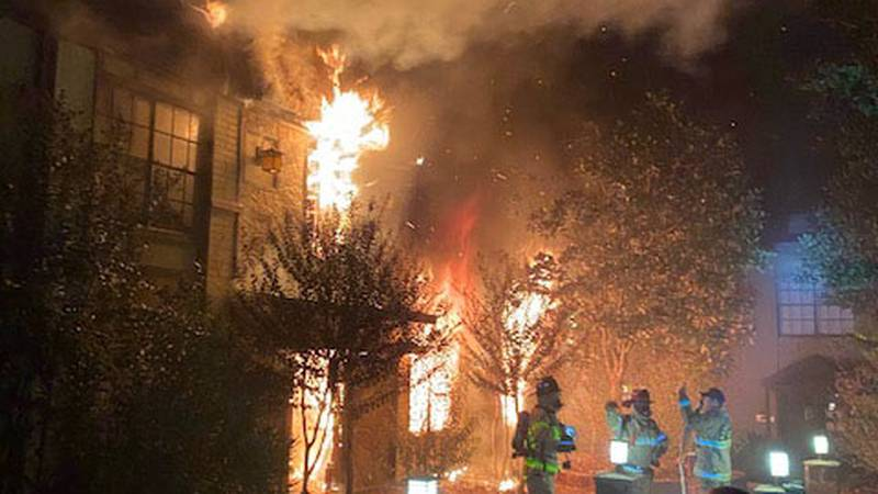 Firefighters from multiple fire departments battled a fire at an apartment complex on North...