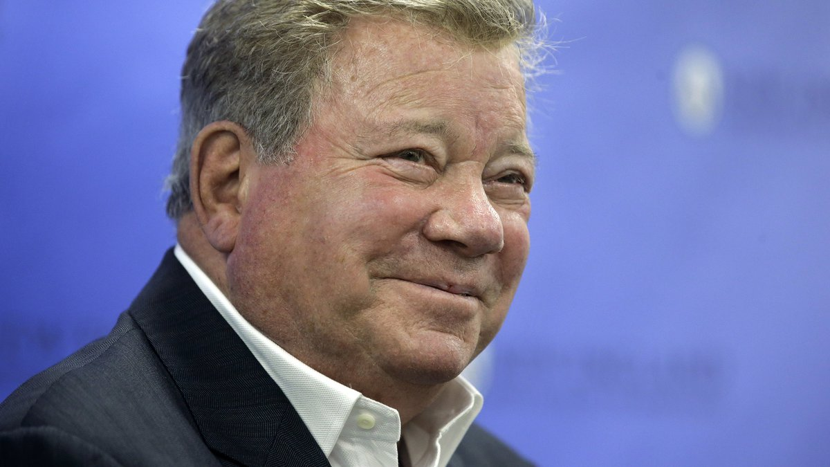 FILE - In this May 6, 2018 file photo, actor William Shatner takes questions from reporters...